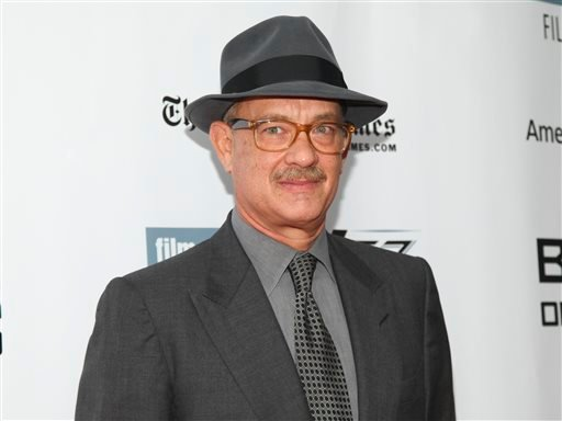 """In this Oct. 4, 2015, file photo, Tom Hanks attends the New York Film Festival """"Bridge of Spies"""" premiere at Alice Tully Hall in New York."""