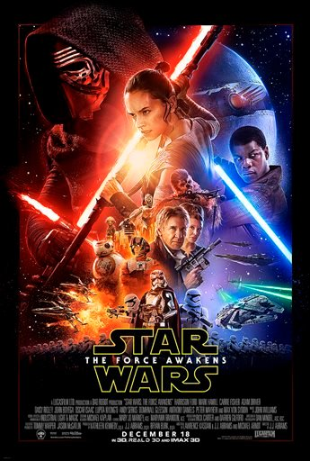 "This undated photo provided by Disney shows the poster for the new film, ""Star Wars: The Force Awakens."""