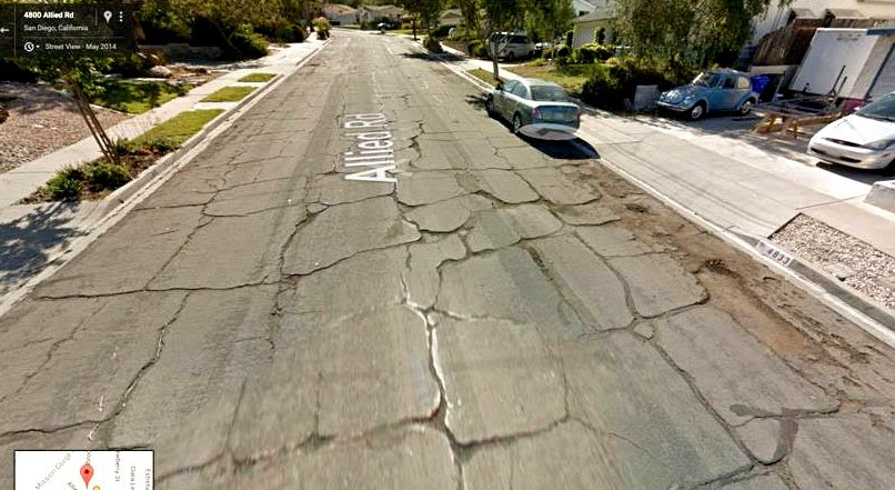 'Before' photo from Google Maps