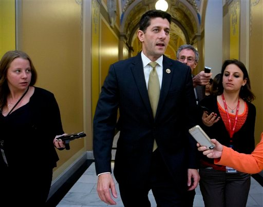 Rep. Paul Ryan, R-Wis., speaks to reporters on Capitol Hill in Washington, Wednesday, Oct. 21, 2015, following meetings with House Republican leaders and the Freedom Caucus members. Ryan seeking unity in a place it's rarely found, is telling House Republi