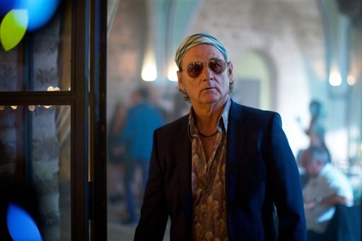 "This photo provided by Open Road Films shows Bill Murray as Richie Lanz in ""Rock the Kasbah."" (Kerry Brown/Open Road Films via AP)"