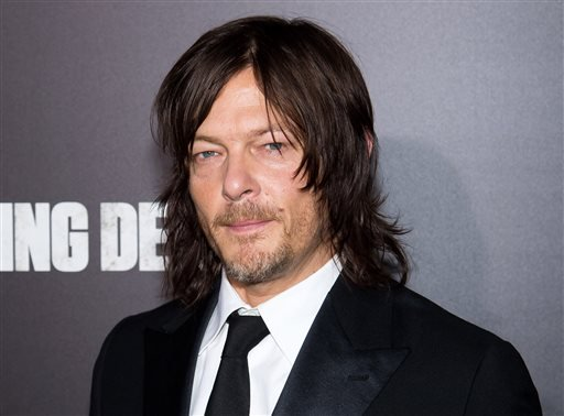 "In this Oct. 9, 2015 file photo, actor Norman Reedus attends AMC's ""The Walking Dead"" season six premiere fan event in New York."