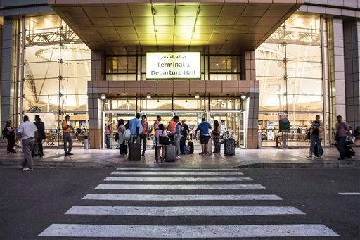 Tourists arrive to the departure hall of the Sharm el-Sheikh airport, south Sinai, Egypt, Saturday, Nov. 7 2015. Egypt's Foreign Minister Sameh Shoukry complained on Saturday that Western governments had not sufficiently helped Egypt in its war on terrori