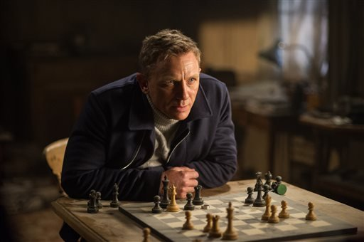 """In this image released by Metro-Goldwyn-Mayer Pictures/Columbia Pictures/EON Productions, Daniel Craig appears in a scene from the James Bond film, """"Spectre."""" (Susie Allnutt/Metro-Goldwyn-Mayer Pictures/Columbia Pictures/EON Productions via AP)"""