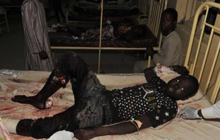 At least 34 people were killed and another 80 wounded in Yola, a town packed with refugees from Nigeria's Islamic uprising, emergency officials said Wednesday. Later Wednesday, two more suicide bombers killed at least 15 people in another city. AP