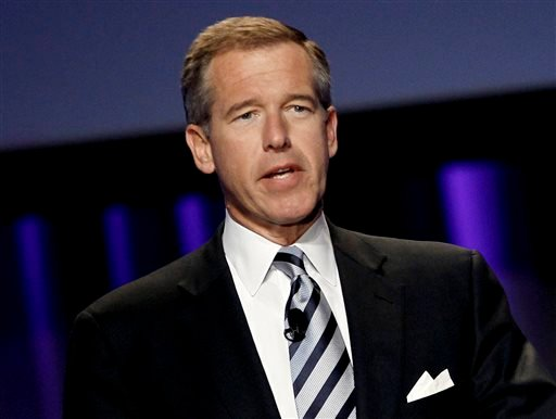 "In this Oct. 26, 2010 file photo, Brian Williams, then anchor and managing editor of ""NBC Nightly News,"" speaks at the Women's Conference in Long Beach, Calif. Williams has settled in his new job at MSNBC. He lost his job in February as NBC's ""Nightly New"