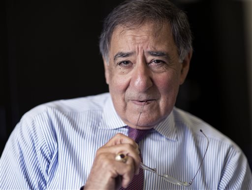 """In this image released by Showtime, former CIA director Leon Panetta poses for a photo for the Showtime documentary """"The Spymasters - CIA in the Crosshairs,"""" premiering Saturday at 9 p.m. (David Hume Kennerly/Shwtime via AP)"""