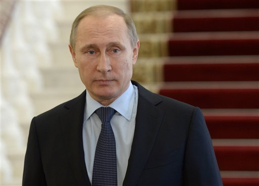 Russian President Vladimir Putin meets the press in Nizhny Tagil in the Ural mountains, Russia, on Wednesday, Nov. 25, 2015. Putin on Wednesday ordered long-range air defense missile systems to be deployed at a Russian air base in Syria following the down