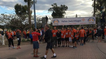 Thousands of runners are ready to participate in the 14th annual Father Joe's Villages Thanksgiving Day 5K. Thursday, November 26, 2015.