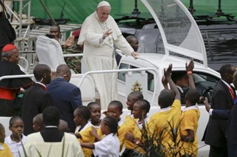 """Pope Francis told Christian and Muslim leaders in Kenya on Thursday that they have little choice but to engage in dialogue to guard against the """"barbarous"""" Islamic extremist attacks that have struck Kenya. (AP Photo/Andrew Medichini)"""