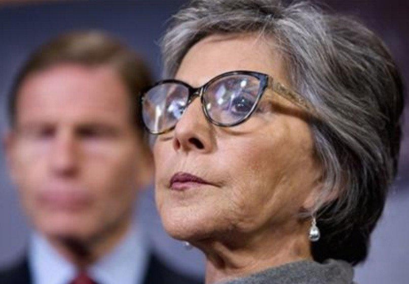 Sen. Barbara Boxer, D-Calif., right, and Sen. Richard Blumenthal, D-Conn., attend a news conference on Capitol Hill in Washington, Thursday, Dec. 3, 2015, to discuss gun control and related amendments to the reconciliation bill. (AP Photo/Jacquelyn Martin