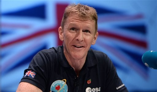 This is a Nov. 6, 2015 file photo of British astronaut Tim Peake.
