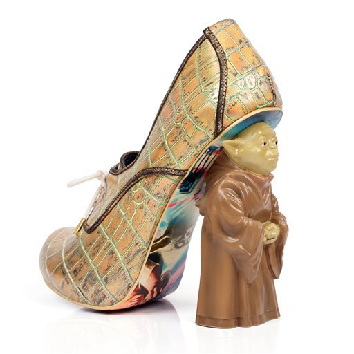 "This photo provided by Disney Consumer Products shows a high heel shoe from the unique irregular Choice Star Wars shoe collection. ""Star Wars: The Force Awakens"" opens in U.S. theaters on Dec. 18, 2015, and it's bringing a galaxy of new merchandise with i"