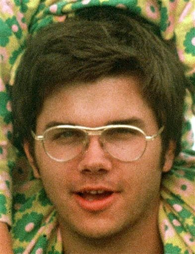 In this 1975 file photo, Mark David Chapman is seen at Fort Chaffee near Fort Smith, Ark.