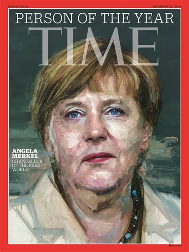 In this image provided by Time Magazine, Wednesday, Dec. 9, 2015, German Chancellor Angela Merkel is featured as Time's Person of the Year.