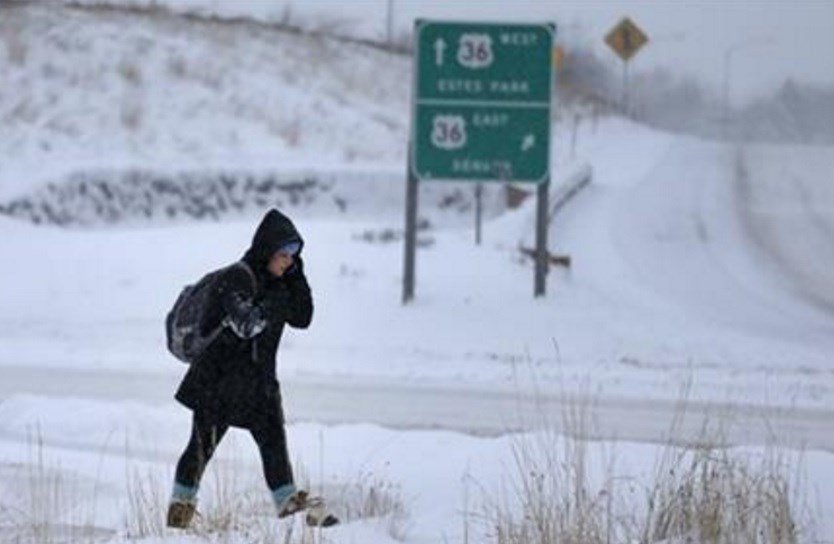 The biggest winter storm to hit the Denver area so far this season has left most schools closed and created some havoc on the roads for those forced to commute. (AP Photo/Brennan Linsley)