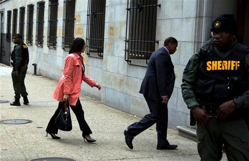 Baltimore State's Attorney Marilyn Mosby arrives to a courthouse before a jury continues deliberations on the case of William Porter, one of six Baltimore city police officers charged in connection to the death of Freddie Gray, Wednesday, Dec. 16, 2015, i