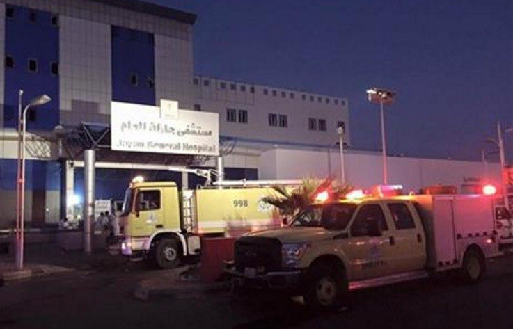 The cause of the blaze, which broke out in the early hours of Thursday around the hospital's intensive care, maternity and neonatal care wards, remains unknown, Saudi Civil Defense spokesman Maj. Yahya bin Abdullah al-Qahtani said.(Saudi Civil Defense-AP)