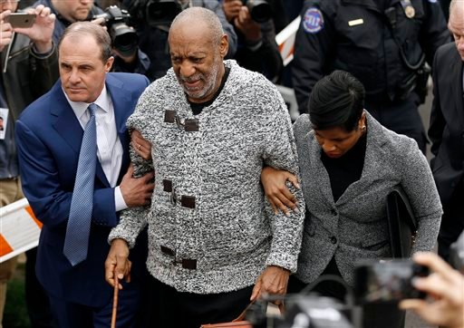 Bill Cosby arrives at court to face a felony charge of aggravated indecent assault Wednesday, Dec. 30, 2015, in Elkins Park, Pa.