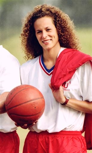 In this Aug. 1, 1987 file photo, Andrea Constand poses for a photo in Toronto.