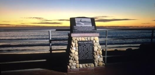 Surfer's Memorial at Tourmaline Canyon Surfing Park. Larry's name has been added to the list in honor of his memory.