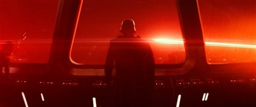 """This photo provided by Disney/Lucasfilm shows a scene from the new film, """"Star Wars: The Force Awakens,"""" directed by J.J. Abrams. (Film Frame/Disney/Lucasfilm via AP)"""