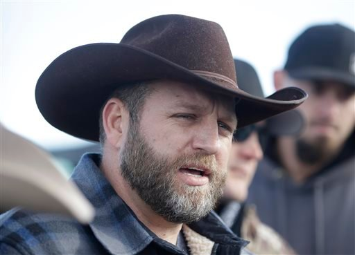Ammon Bundy, one of the sons of Nevada rancher Cliven Bundy, speaks to reporters during a news conference at Malheur National Wildlife Refuge on Wednesday, Jan. 6, 2016, near Burns, Ore. With the takeover entering its fourth day Wednesday, authorities had