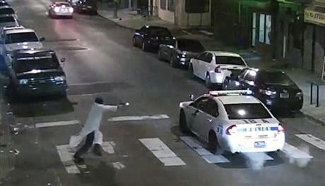 Archer, using a gun stolen from police, said he was acting in the name of Islam when he ambushed Hartnett sitting in his marked cruiser at an intersection, firing shots at point-blank range, authorities said. (Philadelphia Police Department via AP)