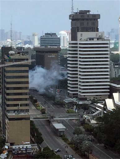 Local television reported more explosions in other parts of the city. (Christian Hubel via AP)