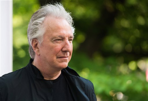 In this Tuesday, June 9, 2015 file photo, actor Alan Rickman attends The Public Theater's Annual Gala at the Delacorte Theater in Central Park, in New York.