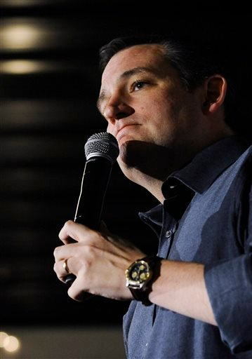 Republican presidential candidate Sen. Ted Cruz, R-Texas, speaks during a campaign stop on Wednesday, Jan. 13, 2016, in Dorchester, S.C. (AP Photo/Rainier Ehrhardt)