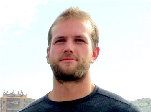 This October 2013 photo provided by Robin Wright shows Matthew Trevithick. Trevithick went to Iran in September 2015 for a four-month language program at an institute associated with Tehran University, his family said in a statement provided to The Associ