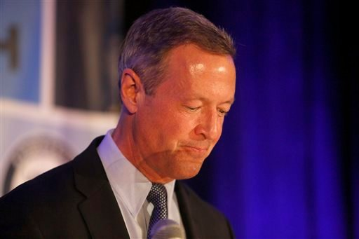 Democratic presidential candidate, former Maryland Gov. Martin O'Malley, speaks during the First in the South Dinner at the Charleston Mariott Saturday, Jan. 16, 2016, in Charleston, S.C. (AP Photo/Mic Smith)