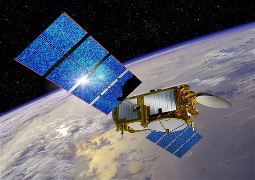 This undated artist rendering provided by NASA shows the Jason-3 satellite. The latest in a series of U.S.-European satellites designed to detect ocean events like El Nino is scheduled for launch Sunday, Jan. 17, from California. If successful, the Jason