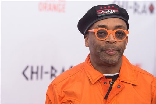 """In a Tuesday, Dec. 1, 2015 file photo, Spike Lee attends the premiere of """"Chi-Raq"""" at the Ziegfeld Theatre, in New York."""