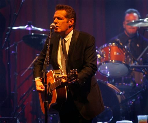 In this March 20, 2010 file photo, Glenn Frey of the Eagles performs at Muhammad Ali's Celebrity Fight Night XVI in Phoenix, Arizona. The Eagles said band founder Frey died Monday, Jan. 18, 2016, in New York after battling multiple ailments. He was 67. (A