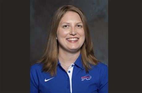 Smith was an administrative assistant this season for Bills assistant coaches under Rex Ryan, with whom she has worked for seven years. (AP Photo/File)