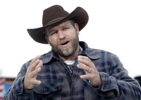 The FBI said authorities arrested Ammon Bundy, 40, his brother Ryan Bundy, 43, Brian Cavalier, 44, Shawna Cox, 59, and Ryan Payne, 32, during a traffic stop on U.S. Highway 395 Tuesday afternoon. (AP Photo/Rick Bowmer, File)