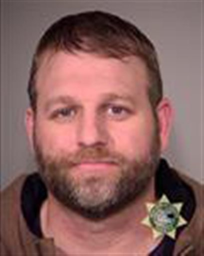 This photo provided by the Multnomah County Sheriff's Office on Wednesday, Jan. 27, 2016, shows Ammon Bundy, one of the members of an armed group occupying the Malheur National Wildlife Refuge as part of a dispute over public lands in the Western U.S.