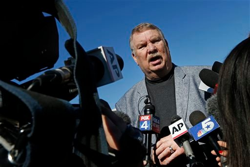 """Tarrant County Sheriff Dee Anderson speaks with media after Ethan Couch was taken into the Scott D. Moore Juvenile Justice Center on Thursday, Jan. 28, 2016, in Fort Worth, Texas. The Texas teenager who used an """"affluenza"""" defense in a fatal drunken-drivi"""