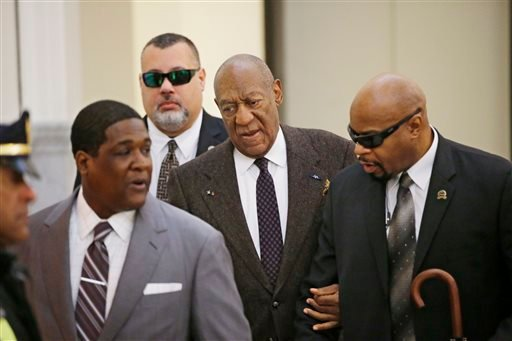Actor and comedian Bill Cosby arrives for a court appearance Wednesday, Feb. 3, 2016, in Norristown, Pa. Cosby was arrested and charged with drugging and sexually assaulting a woman at his home in January 2004. A judge will decide whether to dismiss a sex