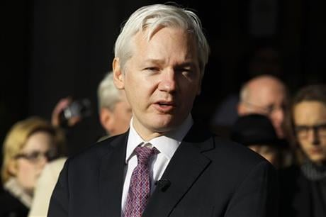 Assange said on WikiLeaks Twitter account that he will accept arrest by British police if a U.N. working group on arbitrary detention decides that the three years he has spent holed up in the Ecuadorean Embassy does not amountto illegal detention. (AP)