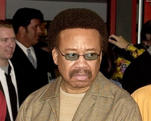 In this July 7, 2003 file photo, Maurice White, of Earth, Wind, & Fire, appears at an induction ceremony at the Hollywood Rock Walk in the Hollywood section of Los Angeles.