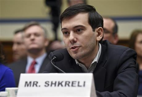 Shkreli refused to testify before U.S. lawmakers who excoriated him over severe hikes for a drug sold by a company that he acquired. (AP Photo/Susan Walsh)