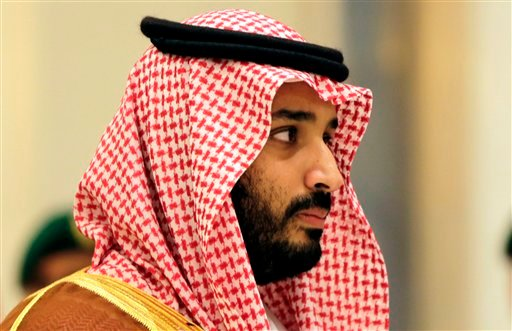 In this Nov. 11, 2015 file photo, Saudi Arabian Deputy Crown Prince Mohammed bin Salman attends a summit of Arab and Latin American leaders in Riyadh, Saudi Arabia. Saudi Arabia's offer to put boots on the ground to fight Islamic State in Syria is as much