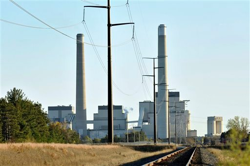 This Oct. 20, 2010, file photo, shows Xcel Energy's Sherco Power Plant is shown in Becker, Minn. A divided Supreme Court agreed Feb. 9, 2016, to halt enforcement of President Barack Obama's sweeping plan to address climate change until after legal challen