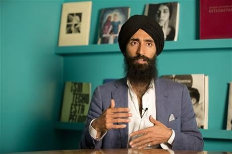 Ahluwalia said he is now waiting for Aeromexico to implement special training on how to treat Sikh passengers, for whom the headgear carries deep religious significance. (AP Photo/Eduardo Verdugo)