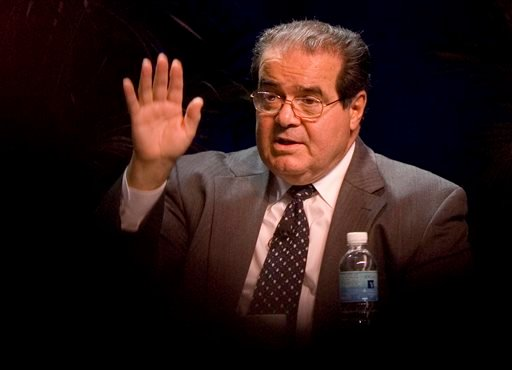 Oct., 15, 2006 file photo, Supreme Court Associate Justice Antonin Scalia speaks at the ACLU Membership Conference in Washington. (AP Photo/Chris Greenberg, File)