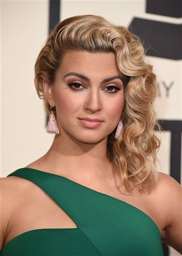 Tori Kelly arrives at the 58th annual Grammy Awards at the Staples Center on Monday, Feb. 15, 2016, in Los Angeles. (Photo by Jordan Strauss/Invision/AP)
