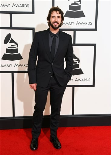 Josh Groban arrives at the 58th annual Grammy Awards at the Staples Center on Monday, Feb. 15, 2016, in Los Angeles. (Photo by Jordan Strauss/Invision/AP)